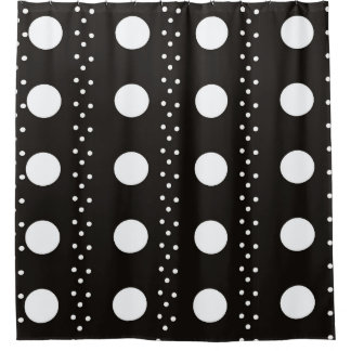 Black And White Stripes Vertical Shower Curtains | Zazzle