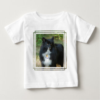 Black and White Pomeranian Tee Shirts