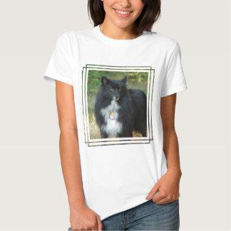 Black and White Pomeranian Tshirt