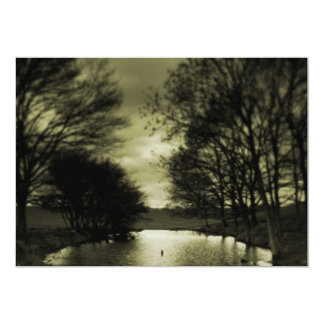Black and White Pond Card