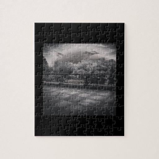 Black and White Pond Scene Puzzles