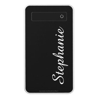 Black and White Portable Charger Custom Power Bank