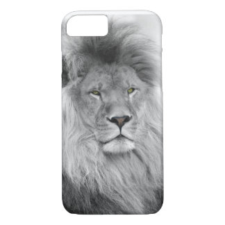 Black and white portrait of lion iPhone 7 case