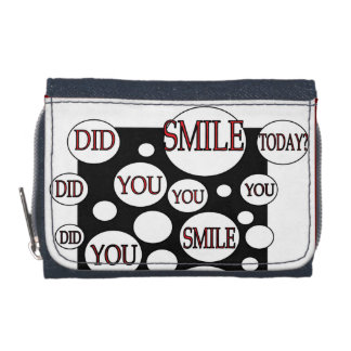 BLACK AND WHITE POSITIVE ENERGY WALLET