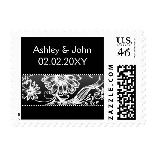 black and white postage