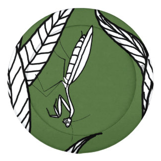 Black And White Praying Mantis On Leaves (green) Pack Of Large Button Covers