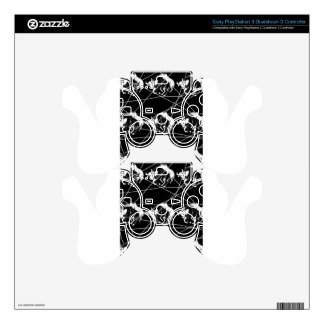 Black and white print skin for PS3 controller