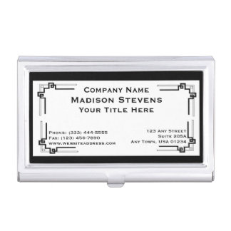 Black and White Professional Business Card Holder