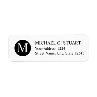 Black and White Professional Monogram Label