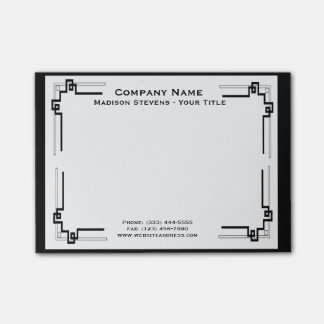 Black and White Professional Post-it® Notes