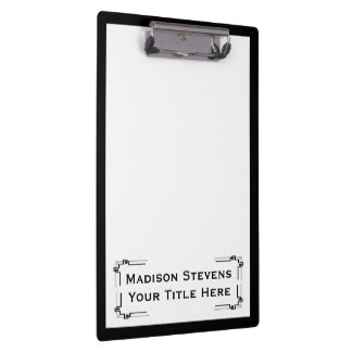 Black and White Professional Simple Clipboard