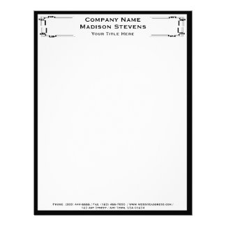 Black and White Professional Simple Letterhead