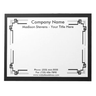 Black and White Professional Simple Notepad