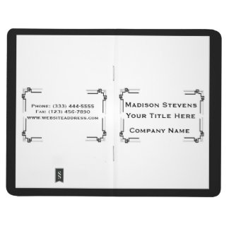 Black and White Professional Simple Pocket Journal