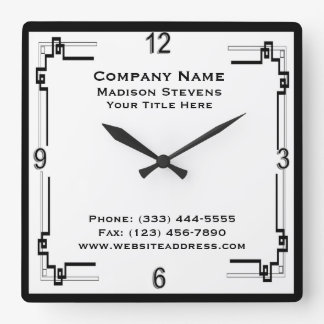 Black and White Professional Simple Wall Clock
