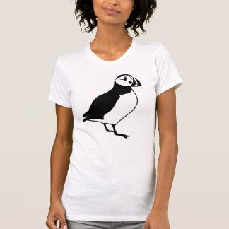 Black and White Puffin Bird Print Tee Shirt