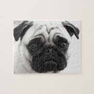 Black and White Pug Puzzle