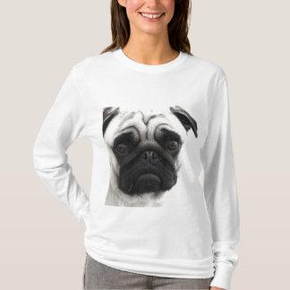 Black and White Pug T-Shirt