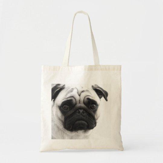 Black and White Pug Tote Bag