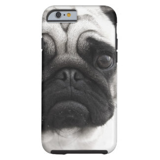 Black and White Pug Tough iPhone 6 Case