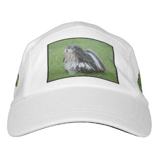 Black and White Puli Dog Hat