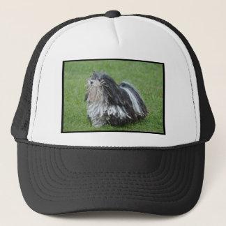 Black and White Puli Dog Trucker Hat