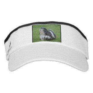 Black and White Puli Dog Visor