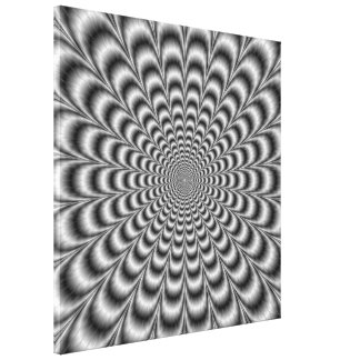 Black and White Pulse Canvas Print