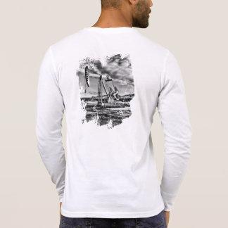 Black and White Pumping Unit ~ Customizable Shirt