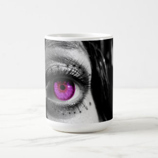 Black and White Purple Star Coffee Mug