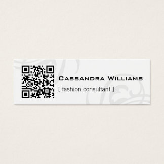 Black and White QR CODE Mini Business Cards