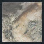 """Black and White Quartz Mineral Texture Stone Coaster<br><div class=""""desc"""">Black and white quartz mineral texture.</div>"""