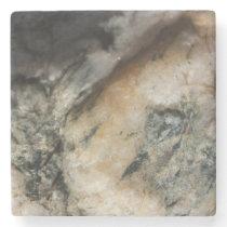 Black and White Quartz Mineral Texture Stone Coaster