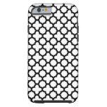 Black and White Quatrefoil iPhone 6 Case