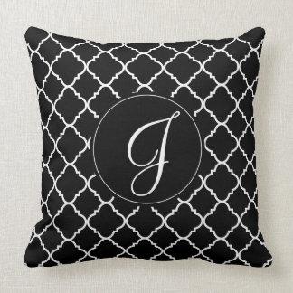Black and White Quatrefoil Pillow