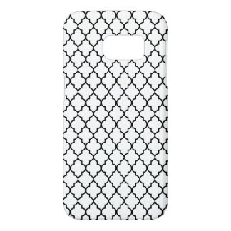 Black and White Quatrefoil Seamless Pattern Samsung Galaxy S7 Case
