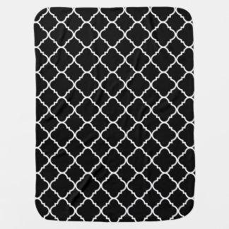 Black and White Quatrefoil Stroller Blankets