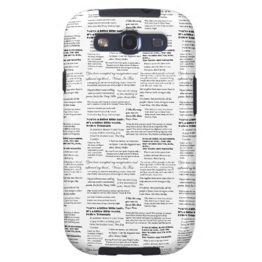 Black and White Quotes Case Galaxy SIII Covers