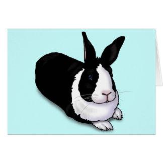 Black and White Rabbit Card