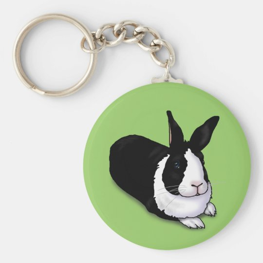 Black and White Rabbit Keychain