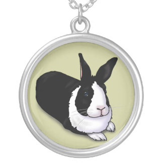 Black and White Rabbit Necklaces