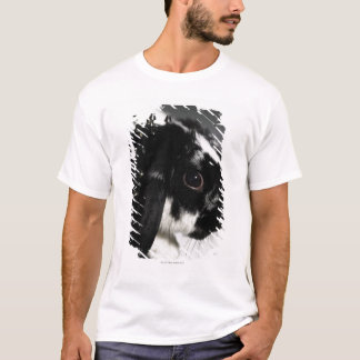 Black and white rabbit with studded collar T-Shirt