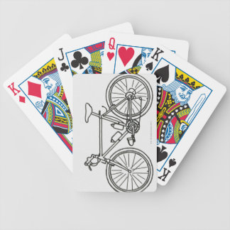 Black and White Race Bicycle Playing Cards