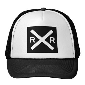 Black And White Railroad Crossing Hat
