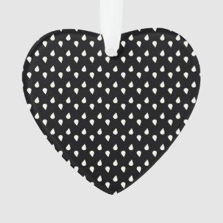 Black and White Raindrops Ornament