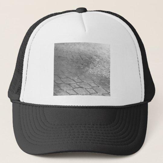 Black and White RainDrops Trucker Hat