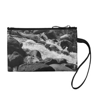 Black and White Rapids Coin Purse