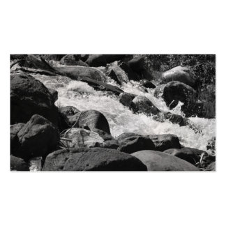 Black and White Rapids Business Cards