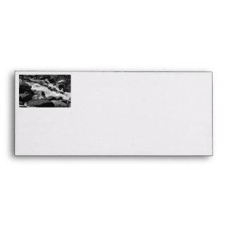 Black and White Rapids Envelopes