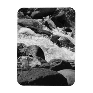 Black and White Rapids Magnet